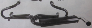 "exhaust header street 1 3/8"" T3 1300-1600cc painted Empi"