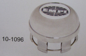 wheel cap replacement low cap chrome Empi logo for 4-spoke rims rims