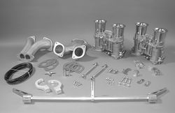 carb kit dual 48 IDA for type 1 engines w/ std manifolds Weber hex Bugpack