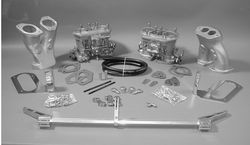 carb kit dual 40 IDF tall kit for type 1 engines Weber hex Bugpack no air