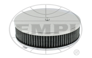 "air filter chrome for Solex 2 1/16"" 6 3/8"" R x 2 1/2"" tall Empi gauze"